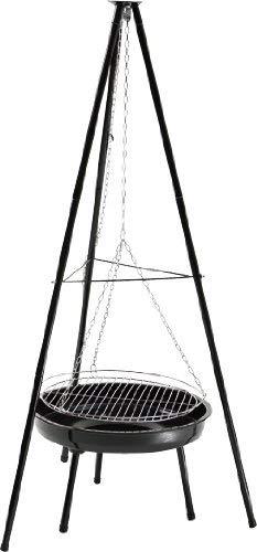 GRILLCHEF Schwenkgrill | Höhenverstellbar durch Kettenzug| 150 cm | Schwarz