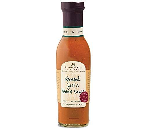 Roasted Garlic Peanut Sauce von Stonewall Kitchen (330 ml) - Gourmet-Soße mit geröstetem Knoblauch...