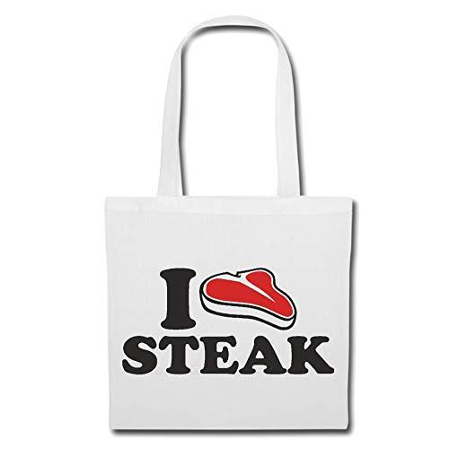 Tasche Umhängetasche I Love Steak - RINDERSTEAK - HÜFTSTEAK - RUMPSTEAK - STEAKHAUS Einkaufstasche...