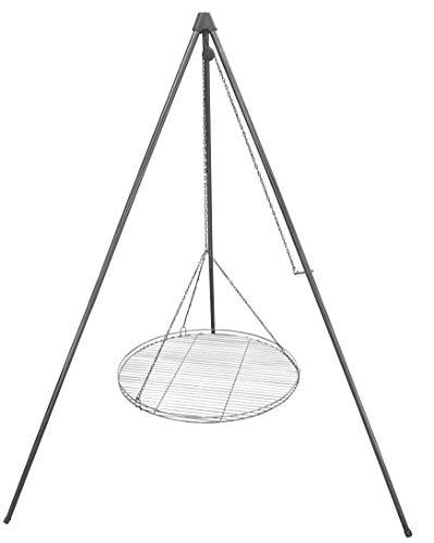 Huber Grillgeräte Dreibein Schwenkgrill inkl. 70 cm Rost aus Deutscher Produktion