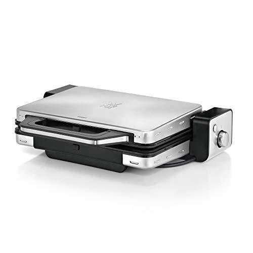 WMF Lono Kontaktgrill 2-in-1, Tischgrill elektrisch, 2 Grillplatten, herausnehmbare Auffangschale,...