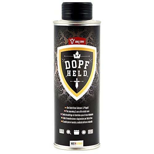 BBQ-Toro DOPFHELD - Das Dutch Oven Einbrenn- & Pflegeöl I 250 ml I Öl für Pflege von Gusseisen...
