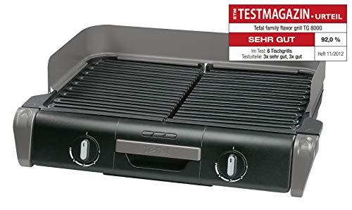 Tefal Elektrogrill Family TG8000 | Tischgrill/BBQ | Für drinnen und draußen | Zwei getrennte...