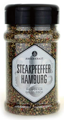 Ankerkraut Steakpfeffer Hamburg - die hanseatische Pfeffer-Mischung für den Grill, 170g im Streuer