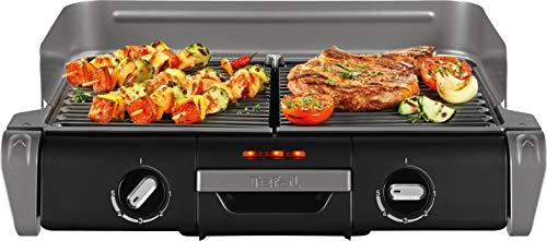 Tefal Elektrogrill Family TG8000   Tischgrill/BBQ   Für drinnen und draußen   Zwei getrennte...
