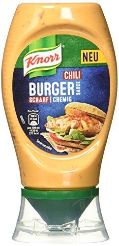Knorr Grillsauce Chili Burger Soße 250 ml (8 x 255 g)