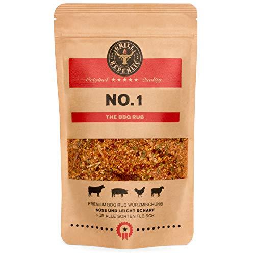 BBQ-Rub Gewürzmischung No. 1 von Grill Republic / Premium BBQ-Gewürz für alle Sorten von Fleisch...