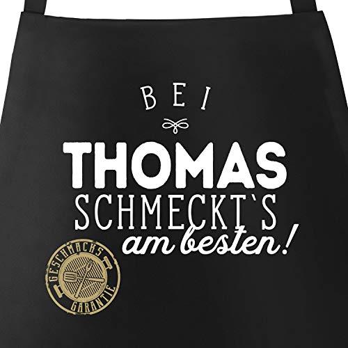 MoonWorks Grill-Schürze Küchenschürze mit Spruch Bei Personalisiert schmeckt`s am besten Grillen...