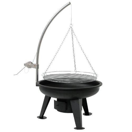 BBQ-Toro Schwenkgrill | Ø 64 cm | Holzkohle Grill mit Grillrost | Grillgalgen mit Kurbel | schwarz...