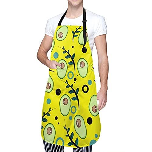 Avocado-Grillschürzen mit 2 Taschen, verstellbarer Nackenriemen, wasserdichte Schürze für Küche,...