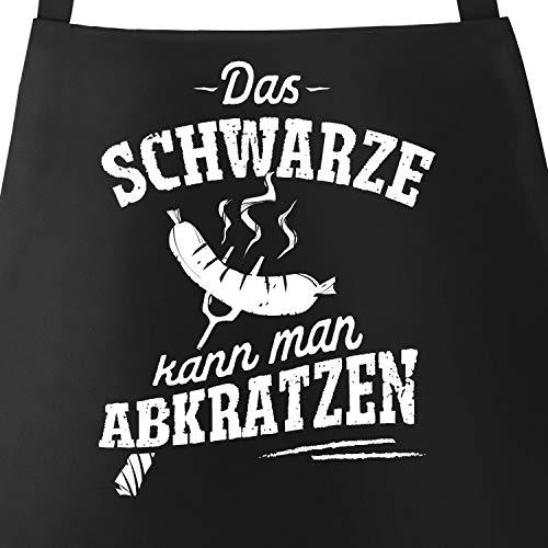 MoonWorks® Grill-Schürze für Männer mit Spruch Das Schwarze kann Man abkratzen Spruch lustig...