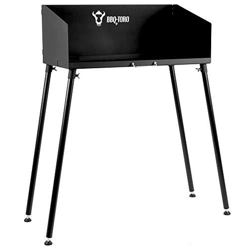 BBQ-Toro Dutch Oven Tisch I 75 x 40 cm I schwarz I Stahltisch für Bräter und Grillzubehör I...