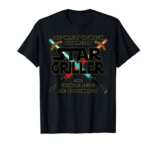 Star Griller wurst - Grill Geschenk für männer Grillschürze T-Shirt