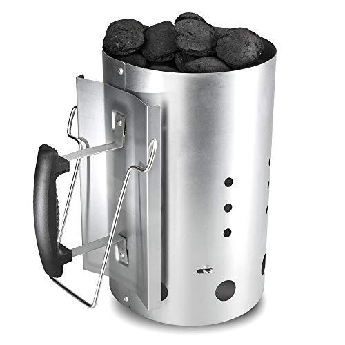 Bruzzzler Anzündkamin, Feuerkohleanzünder, Brennstarter, Kohleanzünder, mit Sicherheitsgriff aus...