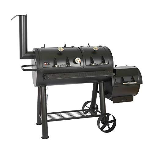 Mayer Barbecue RAUCHA 20 Zoll Longhorn Smoker MS-600 Master Smoker-Grill Grillwagen XXL, 4950 cm²...