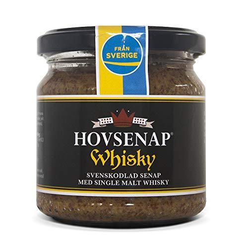 Hovdelikatesser Whisky Senf - extra scharf aus Schweden 185 g (mit 12 Jahre altem Single Malt...