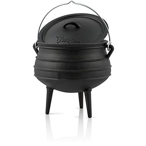 BBQ-Toro Potjie l Gusseisen Hexenkessel (Potjie #2 (ca. 6 Liter), mit Füße) Guss Kochtopf l...