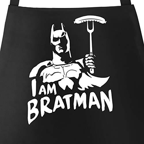 MoonWorks® Grill-Schürze für Männer mit Spruch I am Bratman Grillschürze Parodie Film Comic...