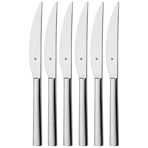 WMF Nuova Steakmesser, Set 6-teilig, 23 cm, Pizzabesteck, Cromargan Edelstahl poliert,...