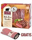 Block House Rib-Eye Frischfleisch ca. 1,31 kg inklusive gekühltem Versand innerhalb von ca. 7...