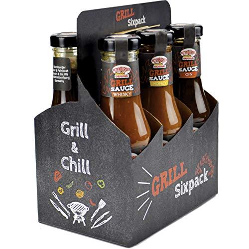 Altenburger Original Grill Sixpack, Grillsaucen Geschenkset mit sechs herrlich leckeren Grillsoßen,...