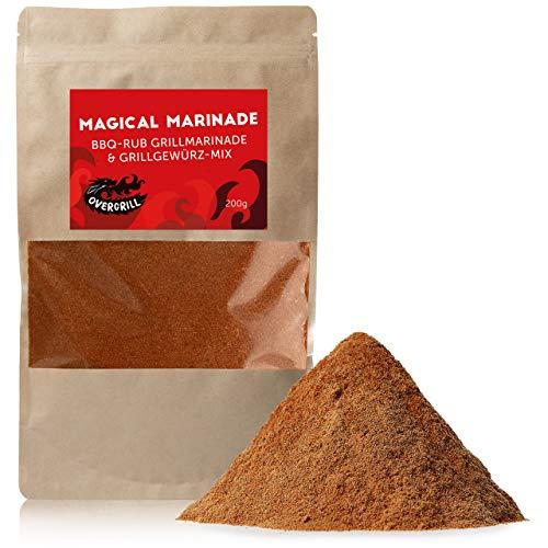 Premium BBQ Rub Gewürzmischung: Magical Marinade Barbecue Mix - 200g Rauchige BBQ Gewürzmischung...