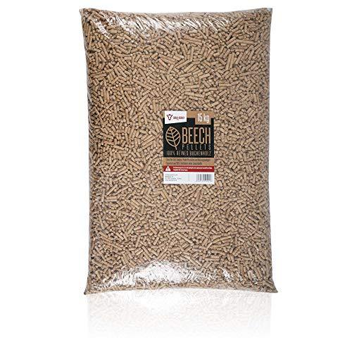 BBQ-Toro Beech Pellets aus 100% Buchenholz (15 kg)   Buchenpellets für Grill, Smoker,...