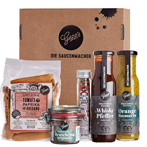 Gepp's Feinkost Grill & BBQ Paket Single I Für Männer & Frauen mit besten Zutaten zum Grillen,...