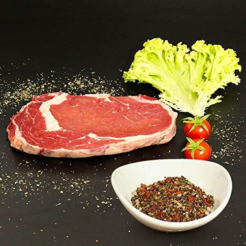 KAUF DEIN STEAK 5 * Rip-EYE-Steaks (DRY AGED am Knochen gereift) inkl. Steakpfeffer, 1,5kg...