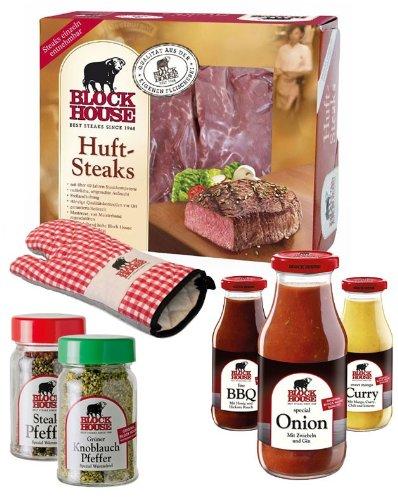 HÜFTSTEAK PREMIUM Set mit Frischfleisch, Grillsaucen & Co., inklusive gekühltem Versand innerhalb...