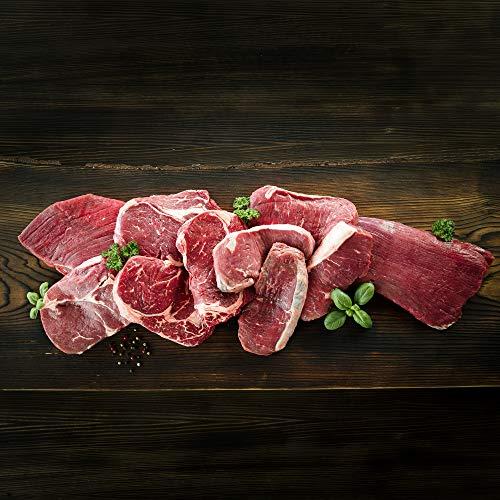 WURSTBARON® Grillpaket Deluxe für 8 Personen - Set aus Flanksteak, Roastbeef, Rib-Eye-Steak