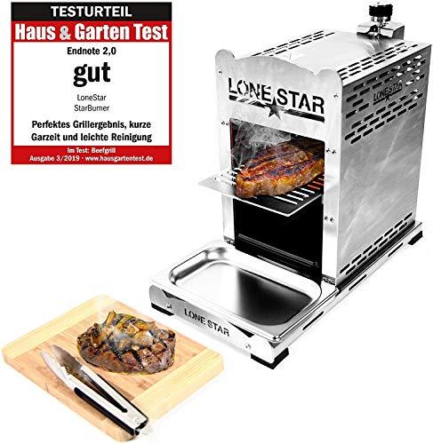 LoneStar StarBurner Edelstahl Beef Grill, Hochtemperatur Gasgrill, Beefmaker Oberhitzegrill bis...