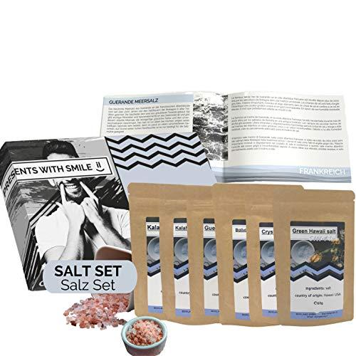 Salz Probierset Natursalze der Welt Geschenkbox   Salz Weltreise Geschenkidee Geschenkset für...