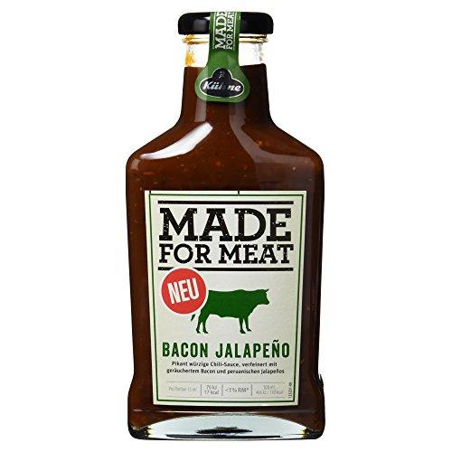 Kühne Grillsauce Made for Meat Bacon Jalapeno in der Flasche, 1er Pack
