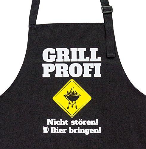 GRILLHIT X Grillschürze: Grill Profi. Nicht stören! Bier bringen! Geschenk für Männer
