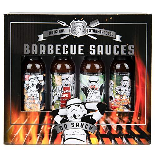 Modern Gourmet Foods - Original Stormtrooper BBQ Saucen Set - Geschenk-Set Mit 4 Grill-Saucen à 45...