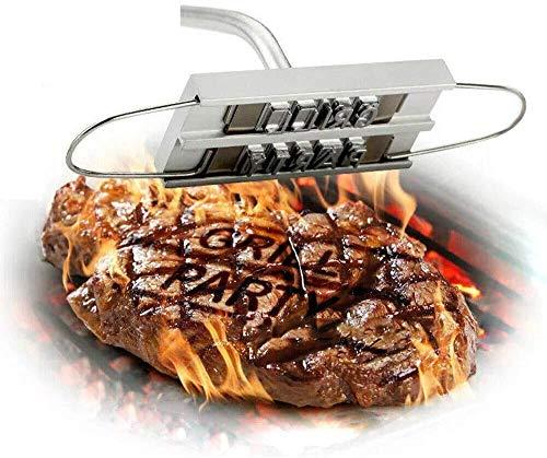 Grill Gadgets Grill Brandeisen,Grill-Brandeisen mit austauschbaren Buchstaben, Grillzubehör –...