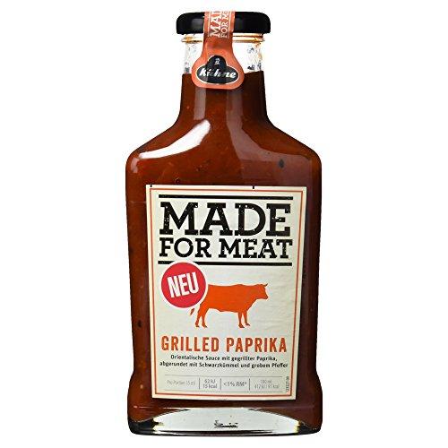Kühne Grillsauce Made for Meat Grilled Paprika in der Flasche, 1er Pack