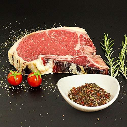 KAUF DEIN STEAK 4 * T-Bone-Steaks (DRY AGED am Knochen gereift) inkl. Steakpfeffer, 2,4kg...