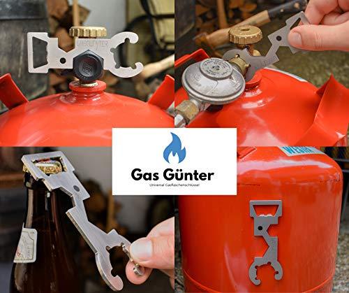 Gas Günter der Universal Gasflaschenschlüssel für 5 & 11 kg Flaschen (Camping, Caravan, Grill) -...