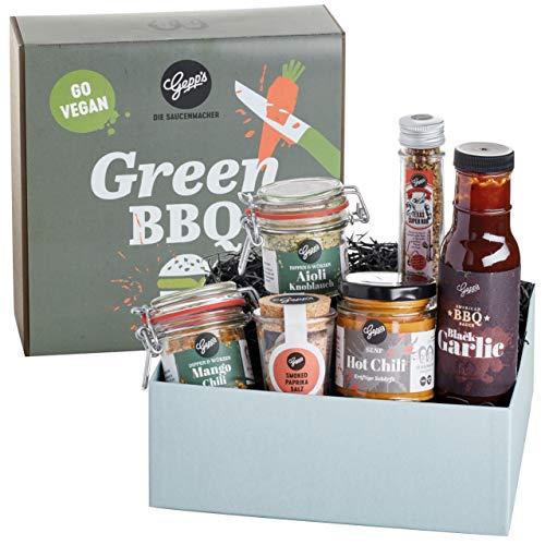 Gepp's Feinkost Vegan BBQ Geschenkbox I Vegan Grillen leicht gemacht mit edlen Gewürzen, Dips &...