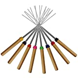 Marshmallow Roasting Sticks, KEKU Set von 8 Telescoping Rotating Smores Spieße & Hot Dog Gabel...
