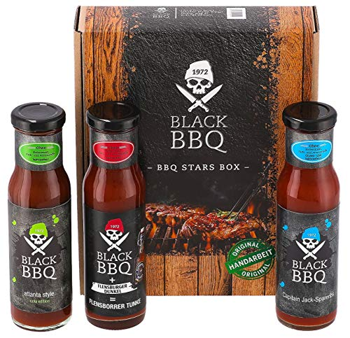 Black BBQ BBQ Stars Box | Grillsauce | Marinade | Burger Sauce | Hamburger Sauce | fein...