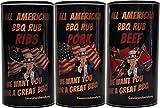 All American BBQ Rub Set - Pork, Beef & Ribs - Authentisch Amerikanische Barbecue Trockenmarinaden...