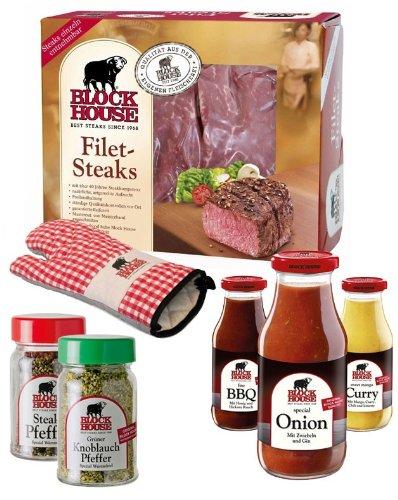 FILET STEAK PREMIUM Set mit Frischfleisch, Grillsaucen & Co. inklusive gekühltem Versand innerhalb...