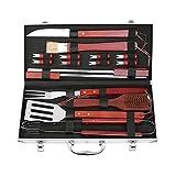 FIXKIT 18-teilig Grillbesteck Koffer,BBQ Grillzubehör Set fürs Camping, Perfektes Geschenk fürs...