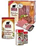 RIB EYE PREMIUM Set mit Frischfleisch, Steakpfeffer & Co. inklusive gekühltem Versand innerhalb von...