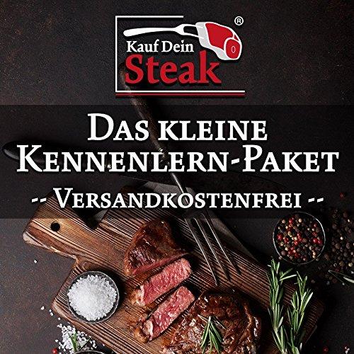 Das kleine 'Kauf Dein Steak' Kennenlern-Paket inkl. Rumpsteaks (Dry-Aged), Rib-Eye-Steak ohne...