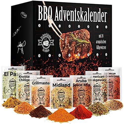 Adventskalender Gewürze 2021 Grill & BBQ, 24 Türchen gefüllt mit aromatischen Grillgewürzen für...
