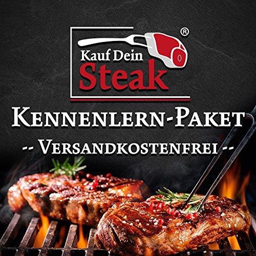 Das 'Kauf Dein Steak' Kennenlern-Paket inkl. Rumpsteak (Dry-Aged), Porterhousesteak (Dry-Aged),...